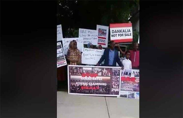 تجمع اریتره ای های مقیم کانادا مقابل سفارت ابوظبی در اتاوا