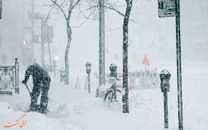 گردباد قطبی در کانادا و آمریکا بسیار ترسناک است