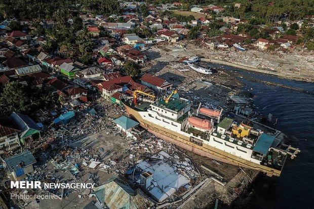 تلفات جدید قربانیان سونامی اندونزی، 222 کشته و 843 زخمی