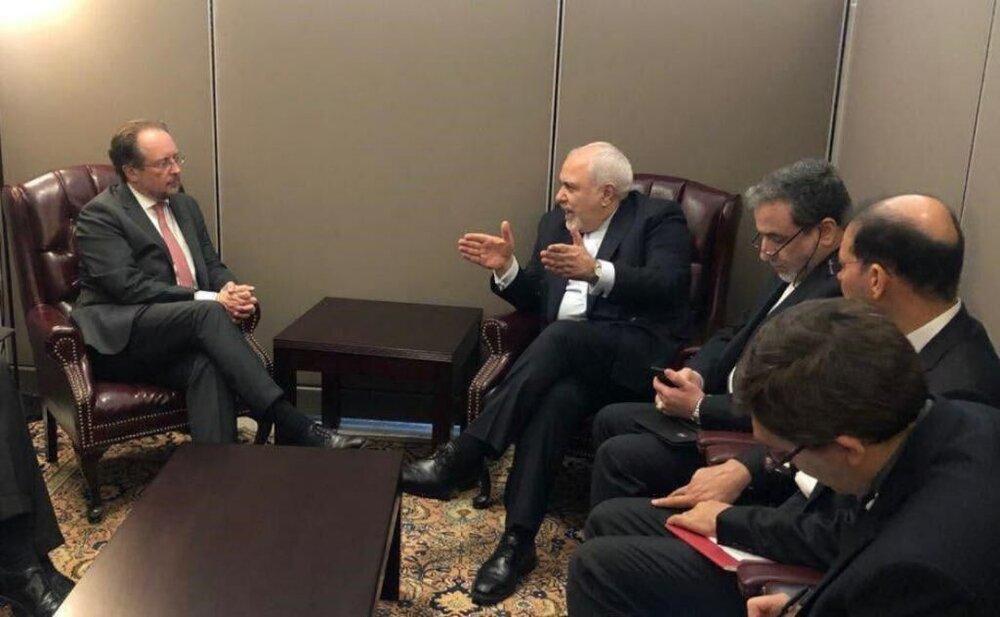 ظریف با همتای اتریشی درباره تعهدات اروپا رایزنی کرد