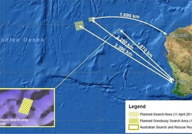 پالس های دریافت شده در اقیانوس هند مربوط به هواپیمای مالزی است
