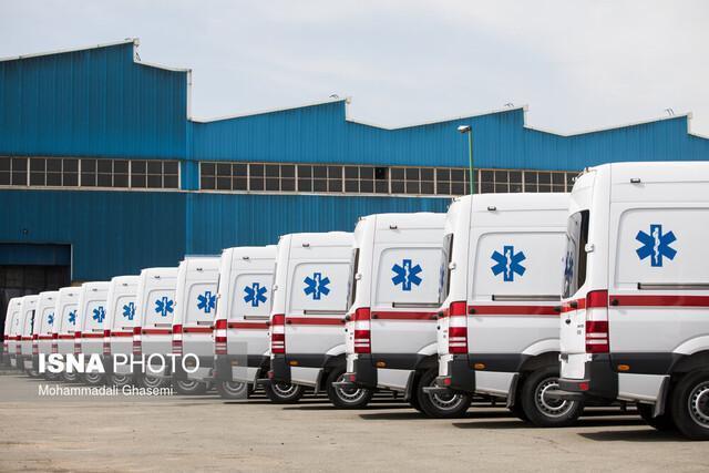 آمادگی تحویل 50 دستگاه آمبولانس ایران خودرو دیزل به وزارت بهداشت