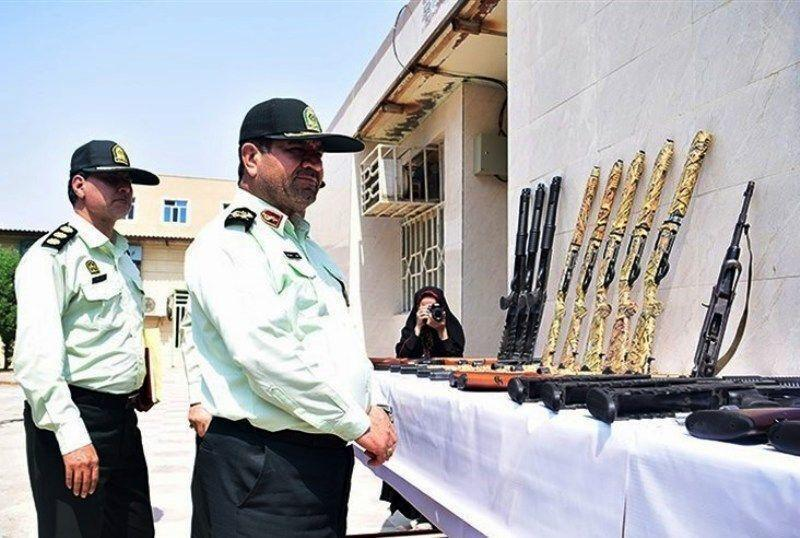 خبرنگاران کشف 153 قبضه سلاح غیرمجاز در خوزستان
