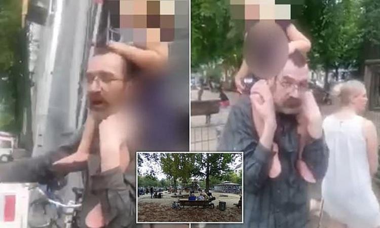 (ویدیو) لحظه ربودن دختر خردسال در پارک بازی!