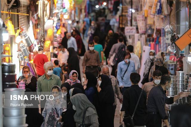 پرسه کرونا در بازارهای شلوغ اهواز در آستانه محرم
