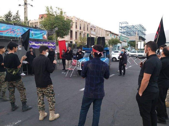برپایی موکب های اربعین و اجرای ویژه برنامه های کوچه های حسینی در منطقه 22