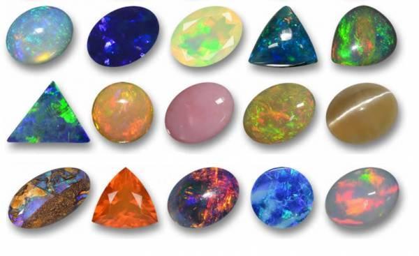 خواص رنگهای مختلف سنگ قیمتی اوپال