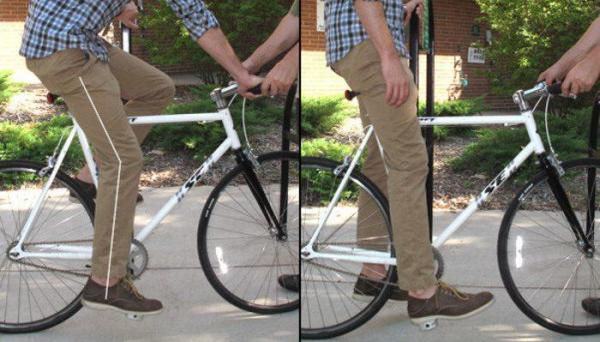تنظیم صحیح ارتفاع زین دوچرخه به روش علمی