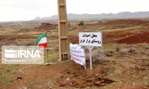 خبرنگاران عملیات بازسازی پنج روستای مرزی قصرشیرین پس از 40 سال شروع شد