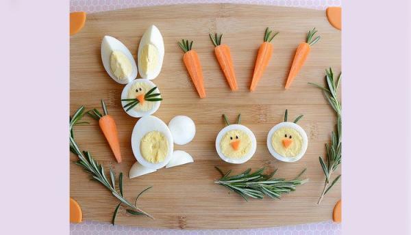 تزیین تخم مرغ پخته با ایده های ساده و جذاب